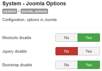 Joomla options